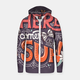 Thumbnail image of Here Comes The Sun 002 Cotton zip up hoodie, Live Heroes