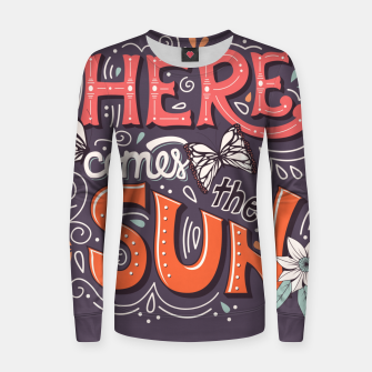 Thumbnail image of Here Comes The Sun 002 Woman cotton sweater, Live Heroes