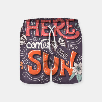 Miniatur Here Comes The Sun 002 Swim Shorts, Live Heroes