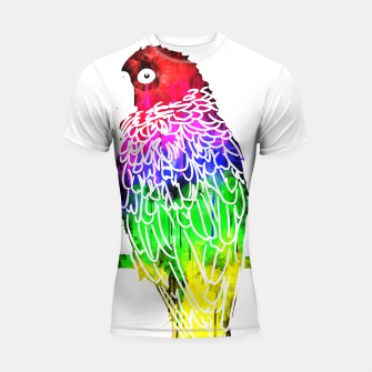 Miniatur gxp colorful watercolor bird - bunter wasserfarben vogel Shortsleeve rashguard, Live Heroes