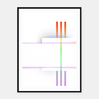 Miniatur Minimal geometric white Framed poster, Live Heroes
