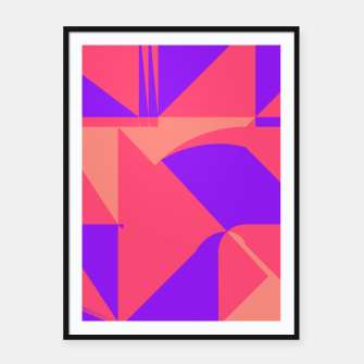 Miniatur Abstract geometry pink Framed poster, Live Heroes