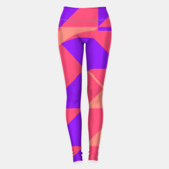 Miniature de image de Abstract geometry pink Leggings, Live Heroes