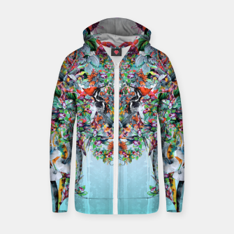 Thumbnail image of Botanica Cotton zip up hoodie, Live Heroes