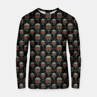 Thumbnail image of Skulls Motif Pattern Cotton sweater, Live Heroes