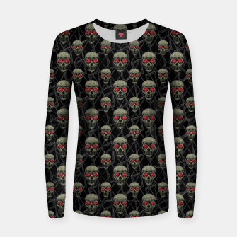 Thumbnail image of Skulls Motif Pattern Woman cotton sweater, Live Heroes