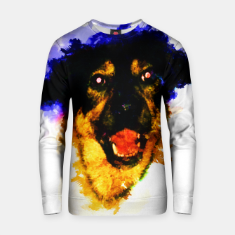 Miniatur gxp happy dog colorful sketch - fröhlicher hund bunt Baumwoll sweatshirt, Live Heroes