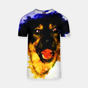 Miniatur gxp happy dog colorful sketch - fröhlicher hund bunt T-Shirt, Live Heroes