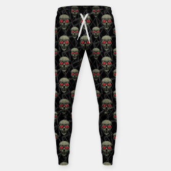 Thumbnail image of Skulls Motif Pattern Cotton sweatpants, Live Heroes