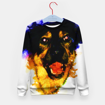 Miniatur gxp happy dog colorful sketch - fröhlicher hund bunt Kindersweatshirt, Live Heroes