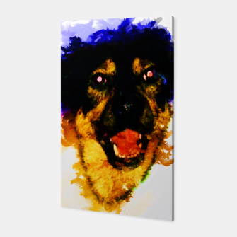 Miniatur gxp happy dog colorful sketch - fröhlicher hund bunt Canvas, Live Heroes