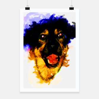 Miniatur gxp happy dog colorful sketch - fröhlicher hund bunt Plakat, Live Heroes