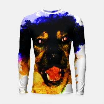 Miniatur gxp happy dog colorful sketch - fröhlicher hund bunt Longsleeve rashguard, Live Heroes