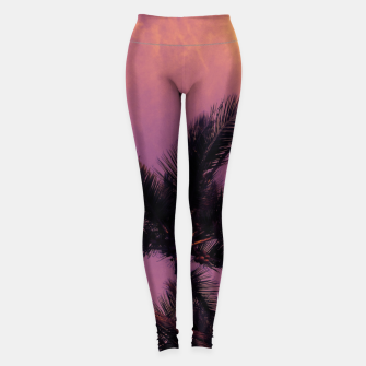 Miniature de image de palm tree pink Leggings, Live Heroes