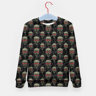 Thumbnail image of Skulls Motif Pattern Kid's sweater, Live Heroes