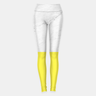 Miniature de image de Marble Lemon Yellow Leggings, Live Heroes
