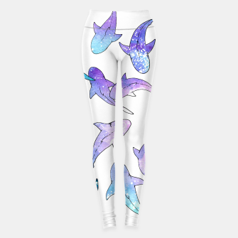 Miniature de image de Galaxy Shark Print Leggings, Live Heroes