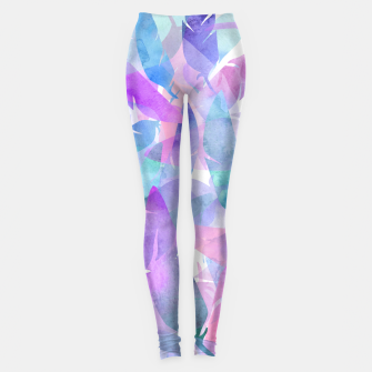 Miniatur Watercolor Feather Haze Leggings, Live Heroes