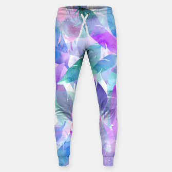 Miniatur Watercolor Feather Haze Cotton sweatpants, Live Heroes