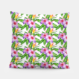 Imagen en miniatura de Tropical Watercolor Floral Print Pillow, Live Heroes