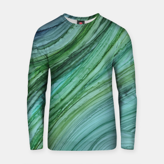 Thumbnail image of Green Agate Geode Slice Cotton sweater, Live Heroes