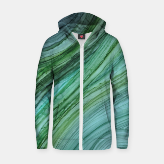 Thumbnail image of Green Agate Geode Slice Cotton zip up hoodie, Live Heroes