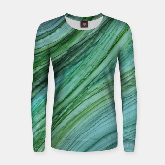 Thumbnail image of Green Agate Geode Slice Woman cotton sweater, Live Heroes