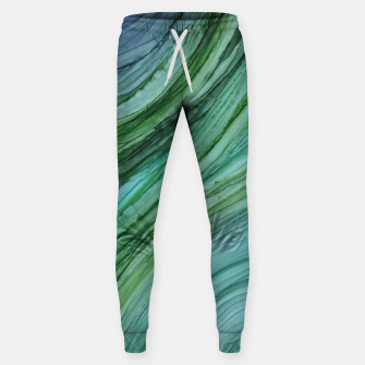 Miniature de image de Green Agate Geode Slice Cotton sweatpants, Live Heroes