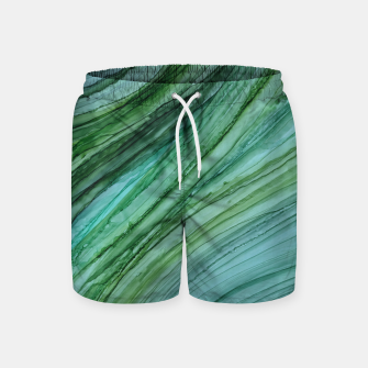 Thumbnail image of Green Agate Geode Slice Swim Shorts, Live Heroes