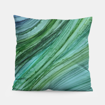 Thumbnail image of Green Agate Geode Slice Pillow, Live Heroes