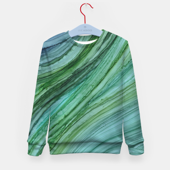Thumbnail image of Green Agate Geode Slice Kid's sweater, Live Heroes