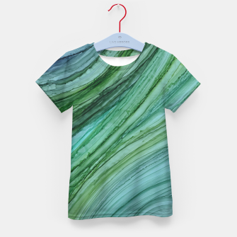 Thumbnail image of Green Agate Geode Slice Kid's t-shirt, Live Heroes
