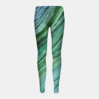 Thumbnail image of Green Agate Geode Slice Girl's leggings, Live Heroes