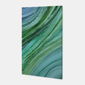 Thumbnail image of Green Agate Geode Slice Canvas, Live Heroes