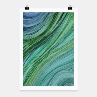Miniaturka Green Agate Geode Slice Poster, Live Heroes