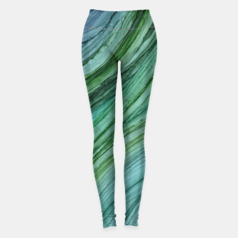 Thumbnail image of Green Agate Geode Slice Leggings, Live Heroes