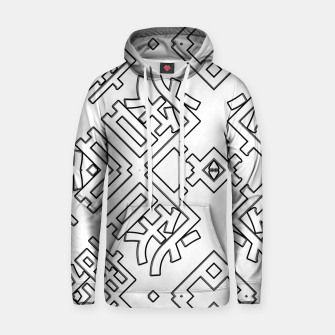 Thumbnail image of Language Blocks Typography Abstract Cotton hoodie, Live Heroes
