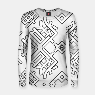 Thumbnail image of Language Blocks Typography Abstract Woman cotton sweater, Live Heroes