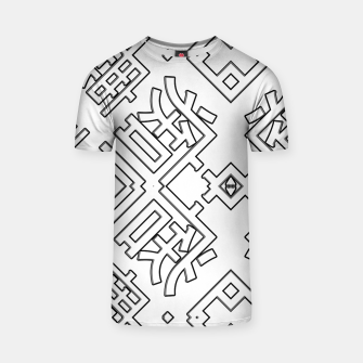 Thumbnail image of Language Blocks Typography Abstract T-shirt, Live Heroes