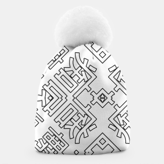 Thumbnail image of Language Blocks Typography Abstract Beanie, Live Heroes