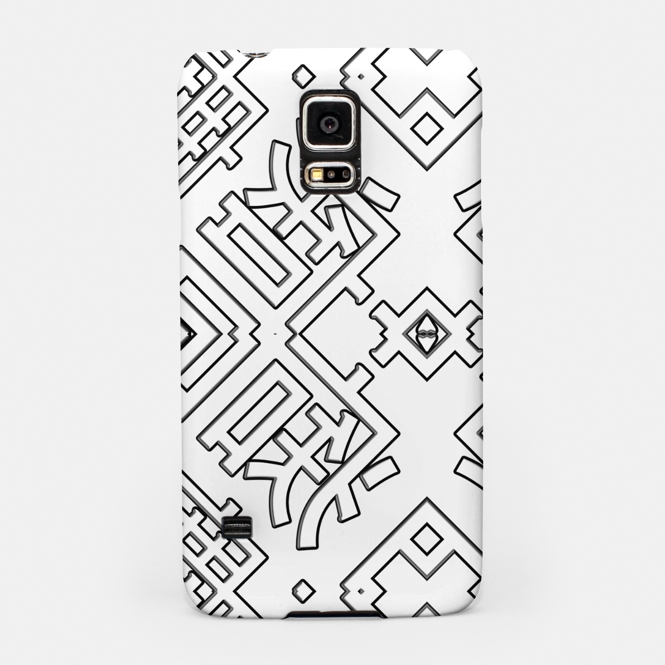 Image of Language Blocks Typography Abstract Samsung Case - Live Heroes