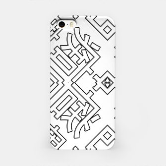 Thumbnail image of Language Blocks Typography Abstract iPhone Case, Live Heroes