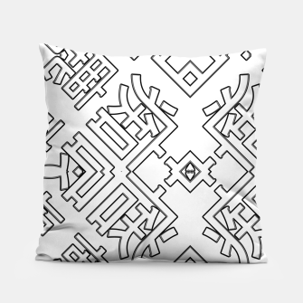 Thumbnail image of Language Blocks Typography Abstract Pillow, Live Heroes