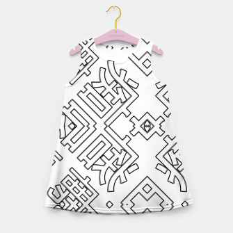 Thumbnail image of Language Blocks Typography Abstract Girl's summer dress, Live Heroes