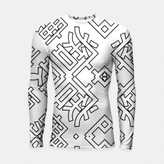 Thumbnail image of Language Blocks Typography Abstract Longsleeve rashguard , Live Heroes