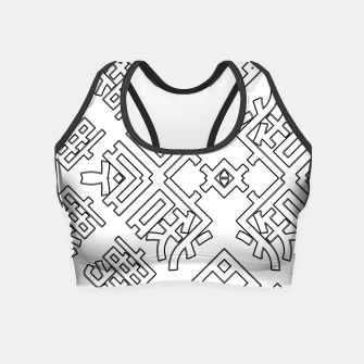 Thumbnail image of Language Blocks Typography Abstract Crop Top, Live Heroes