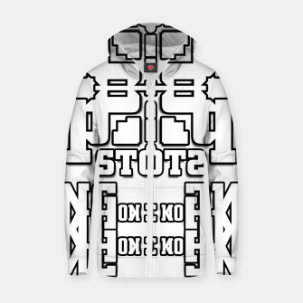 Thumbnail image of TOS Typography Abstract Cotton zip up hoodie, Live Heroes