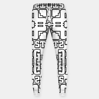 Thumbnail image of TOS Typography Abstract Cotton sweatpants, Live Heroes