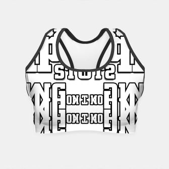 Thumbnail image of TOS Typography Abstract Crop Top, Live Heroes