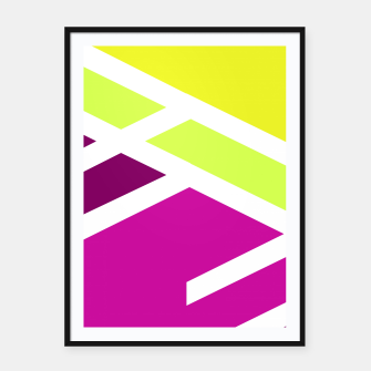 Thumbnail image of Vibrant geometry Framed poster, Live Heroes